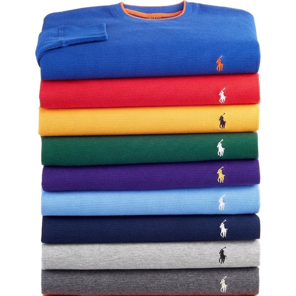 c0db3333a8b51 POLO RALPH LAUREN WAFFLE CREW NECK THERMAL NWT